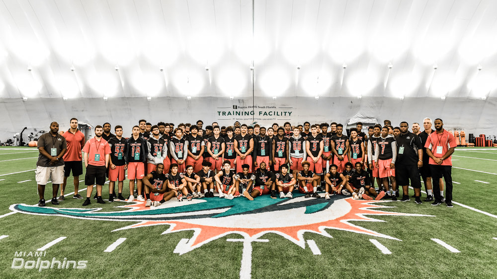 Coral Gables High School Football Team Visits Baptist Health Training Facility at Nova Southeastern University.jpg