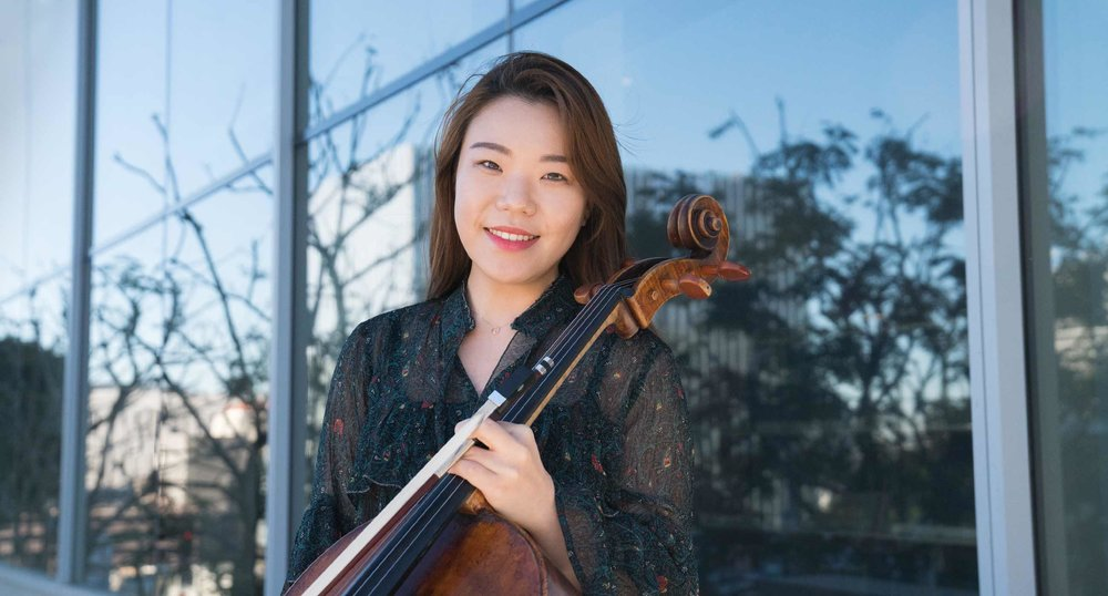Colburn Conservatory of Music cellist Minji Choi, photographed by Philip Pirolo