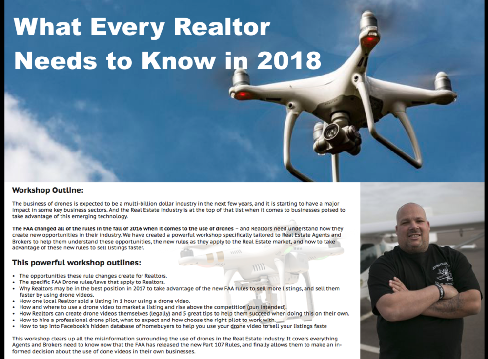 Drones / UAVs - What Every Realtor Needs To Know in 2018