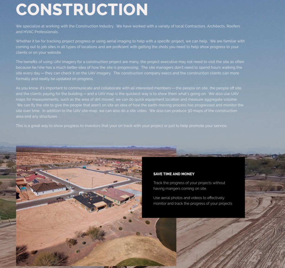 PREMIER UAV AERIAL NOW HAS CONSTRUCTION DRONE SERVICES
