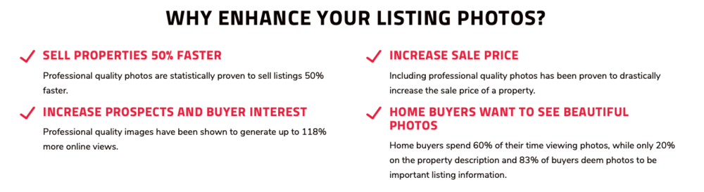 WHY ENHANCED YOUR LISTING PHOTOS