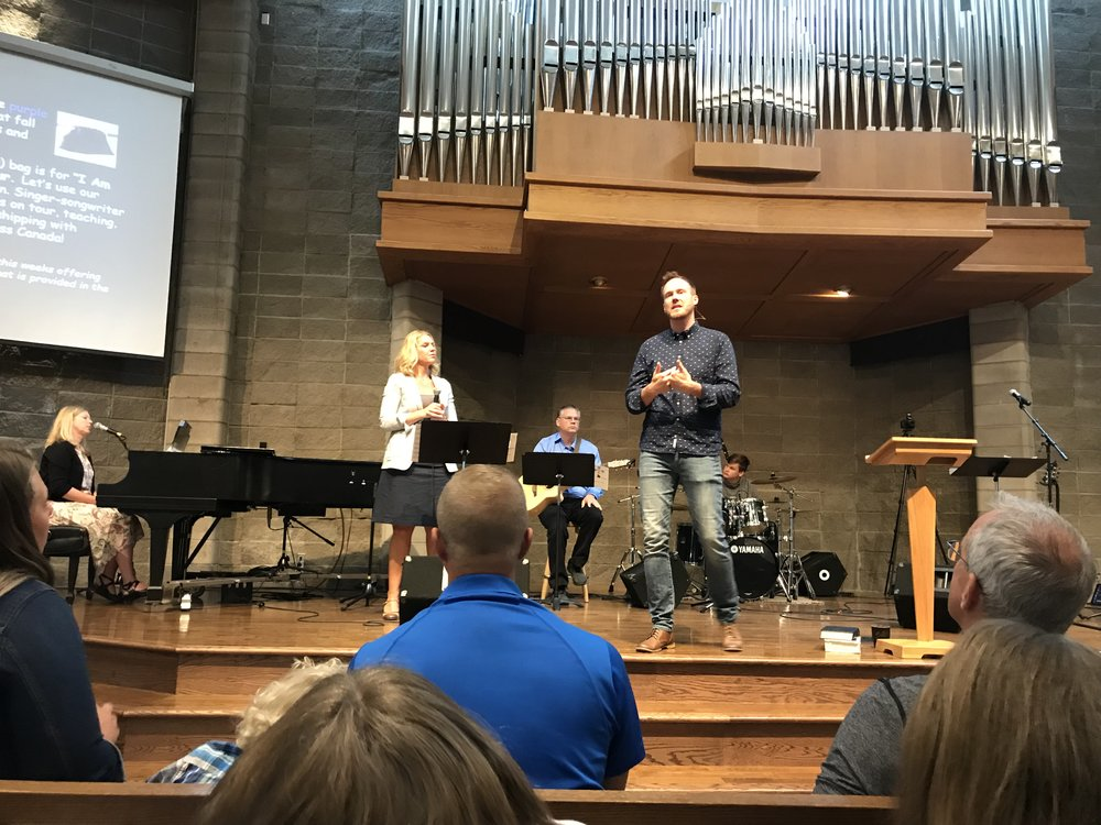 Jeremy speaking on Worship & Mission.