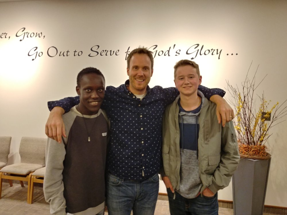Jer with a couple of youth from Smithers CRC…he really enjoyed these two guys!