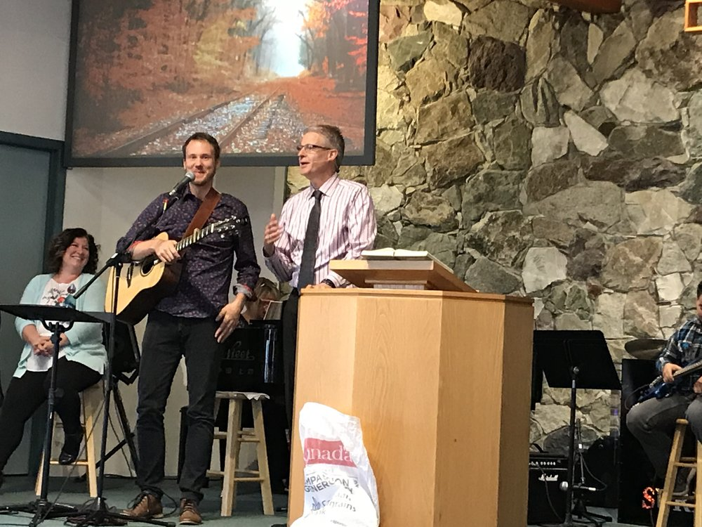 Darren and Jer leading worship at Terrace CRC.