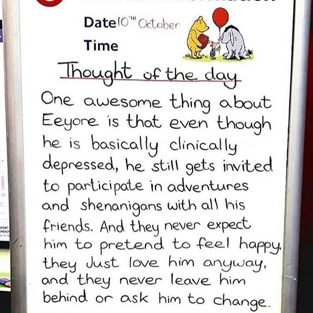 I like this one very much. Thank you London Underground and @missmikasimmons for sending my way. Big love too eeyore as well ❤️