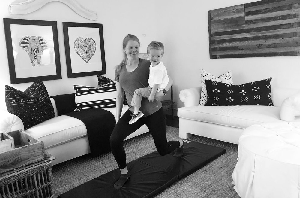 Workout with your toddler