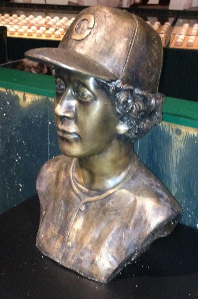 Negro League Baseball Museum bronze statue of woman baseball player