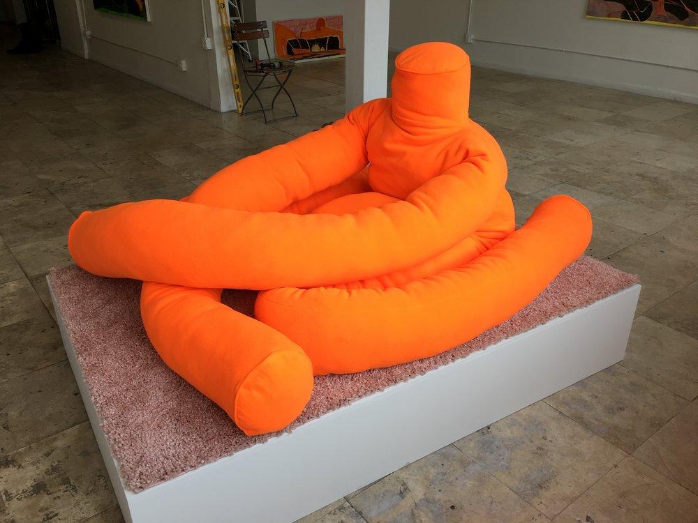 Big Orange Figure
