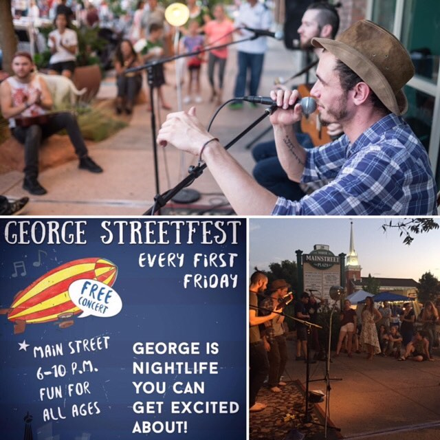Come kick it with us tonight at @georgestreetfest from 6 to 10 PM in Downtown #stgeorgeutah! Sound and Stone sending Light and Love! -The Brothers