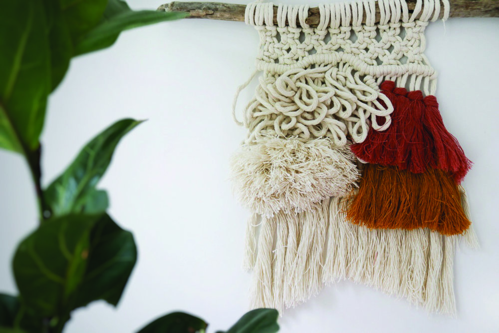 Macrame Wall Hanging \\ Boho Decor