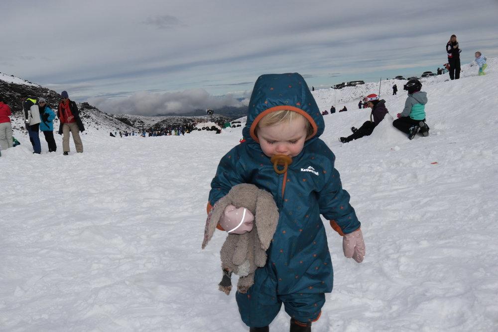baby skiier
