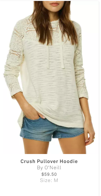 - Love this light hoodie & the the embroidered detail is beautiful!