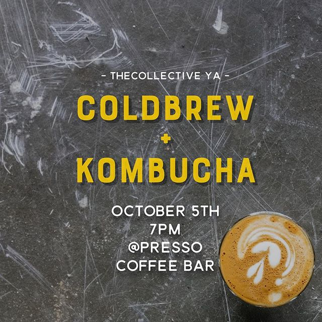 12 Days until our Next Gathering ColdBrew, Kombucha will be served as well as some Pumpkin spice treats! 🍂🎃