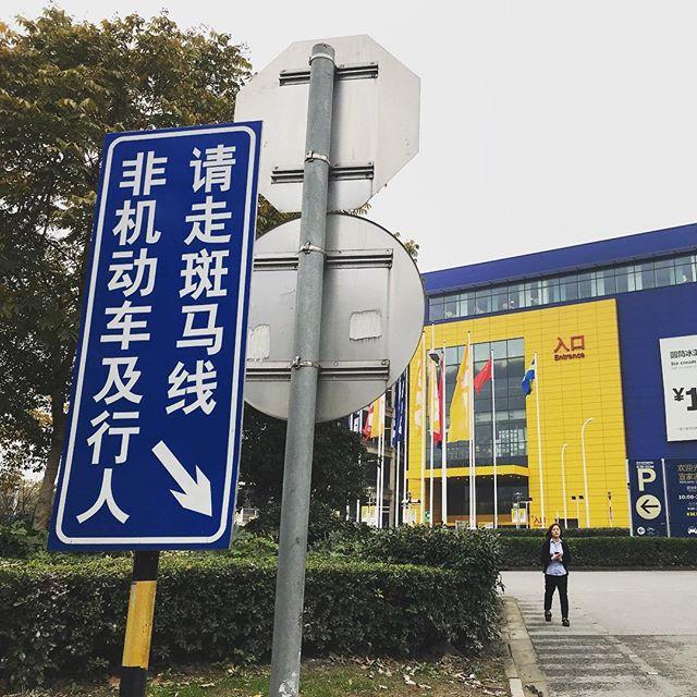 非機動車及行人的是會讀中文是嗎 (要也是 行人及非機動車騎行工具吧不然是坦克飛機外星人嗎)#自己都不知道在講什麼 #是什麼東西 #結果是 #上海日常 #什麼文法 #看三遍都不懂 #猜了才懂 #ikeashanghaixuhui #ikeachina