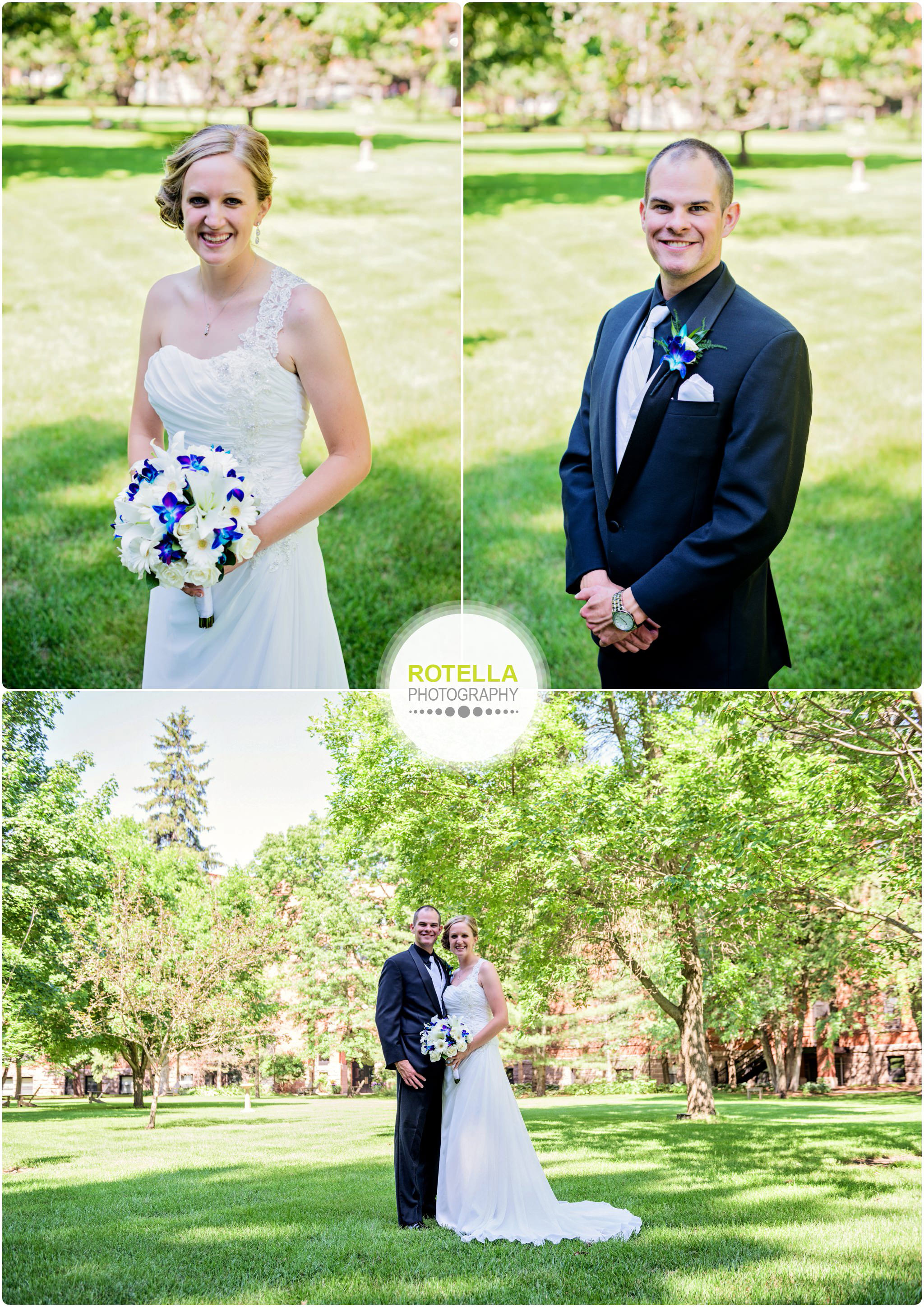 A College of St. Benedict's Wedding outdoor portraits on the lawn