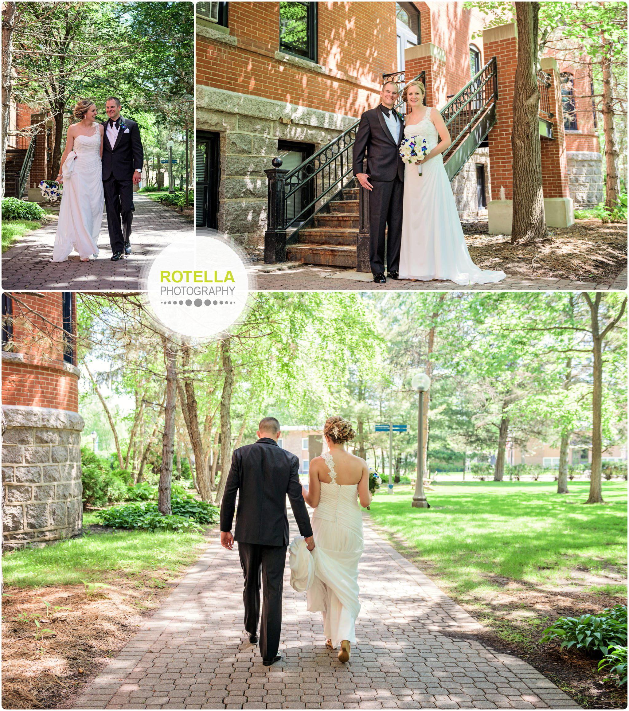 A College of St. Benedict's Wedding outdoor portraits walking