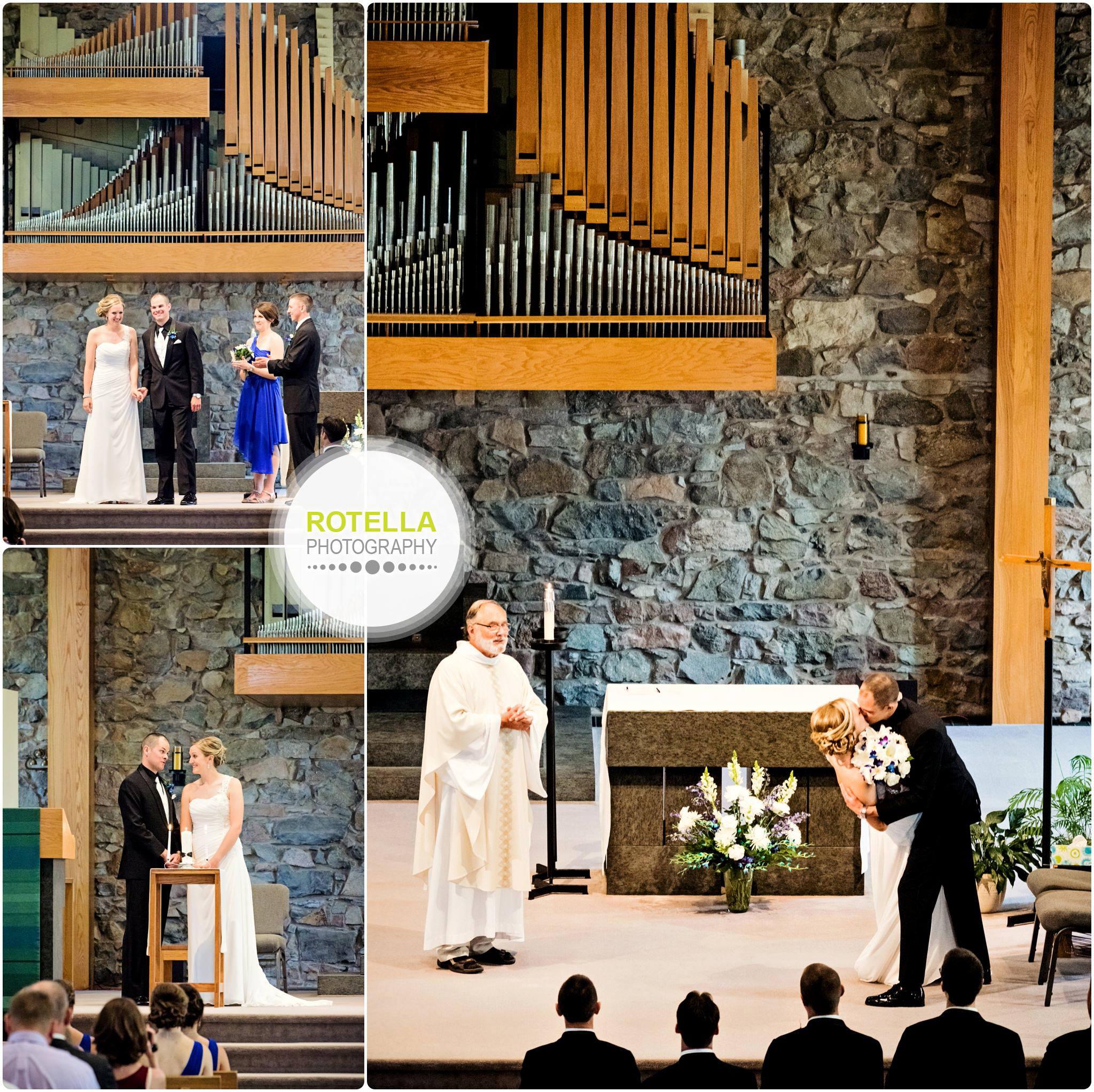 A College of St. Benedict's Wedding ceremony