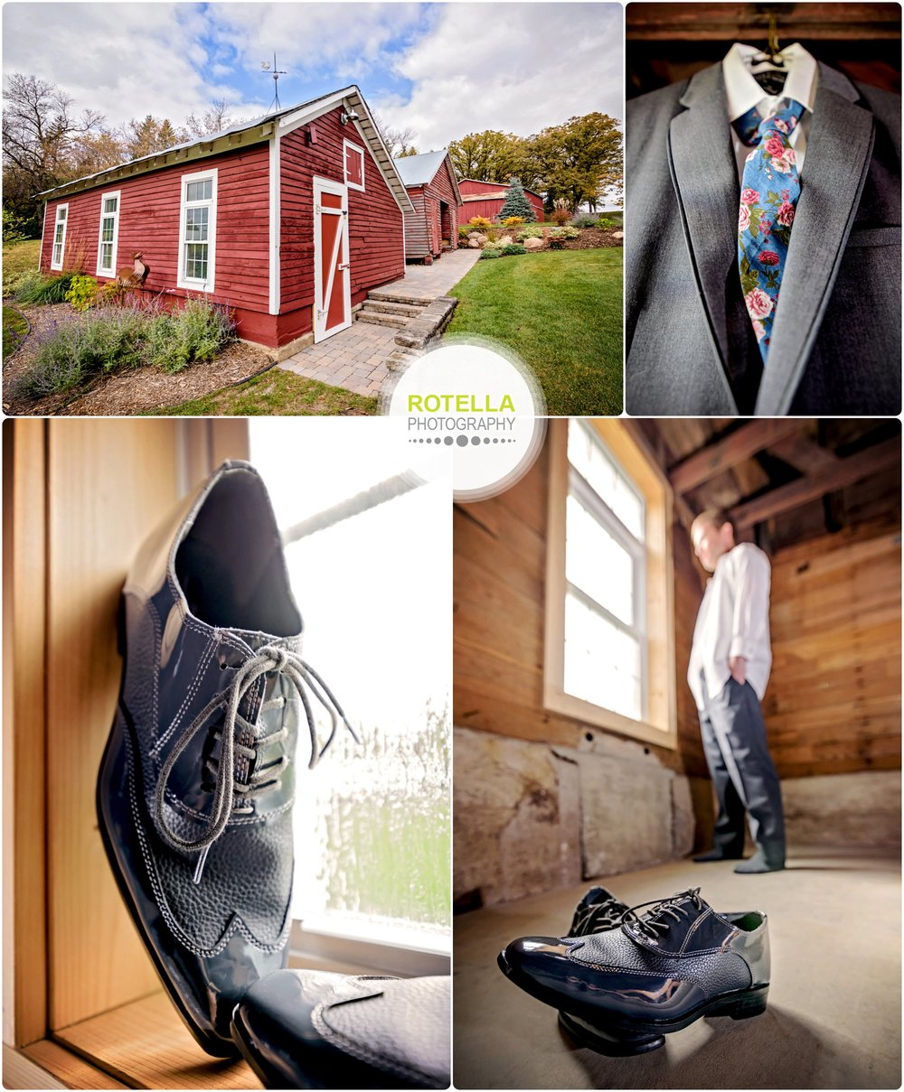 Groom gets ready at Rolling Ridge Wedding and Event Center