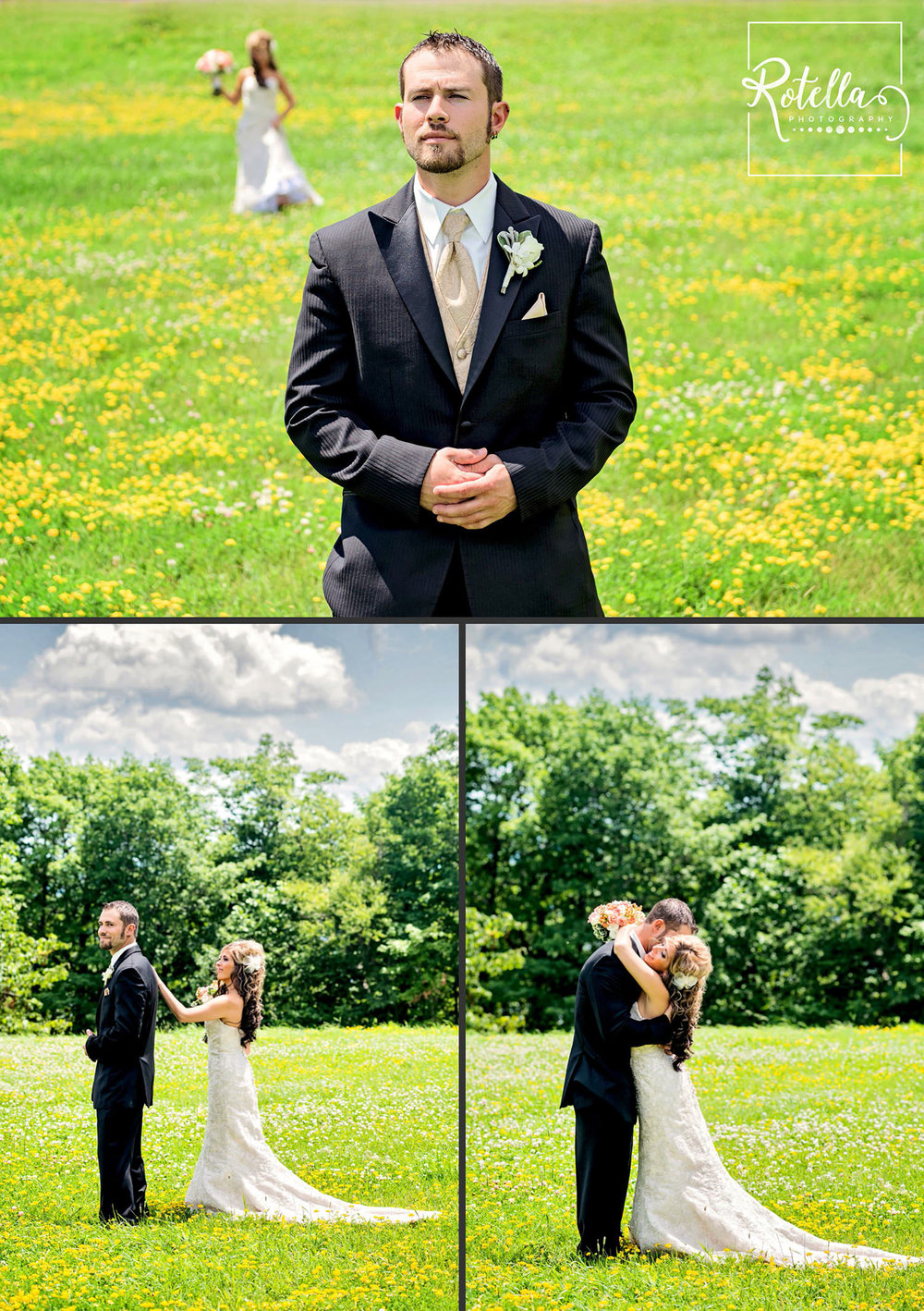 Minnesota Wedding Photography first look by Rotella Photography