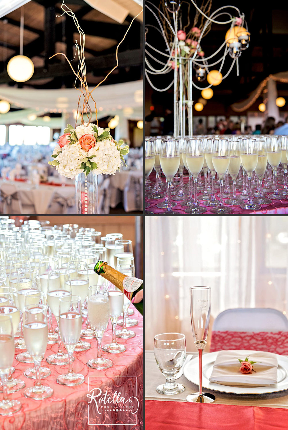 Spirit Mountain decorated reception by Rotella Photography