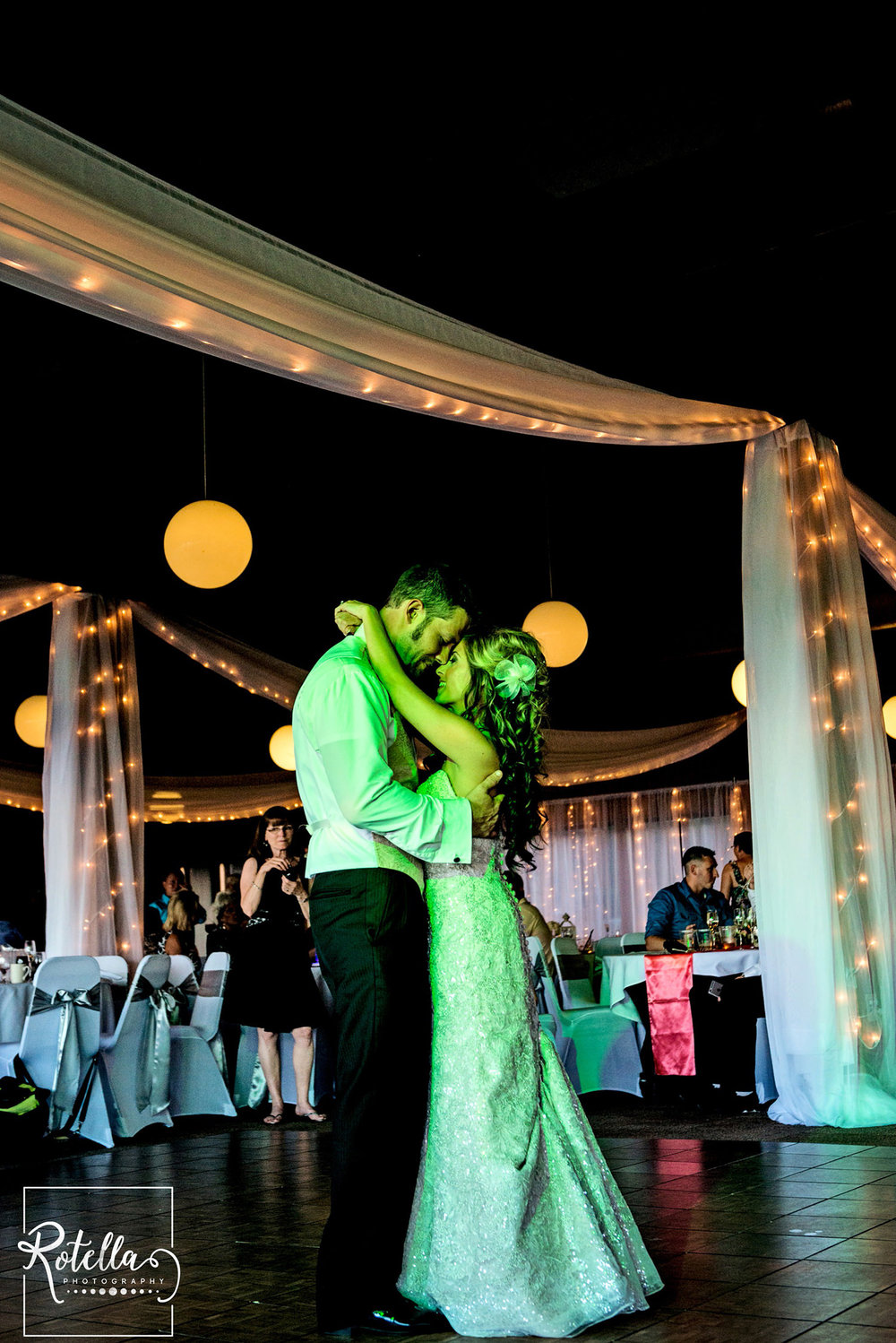 Bride and groom's first dance by Rotella Photography
