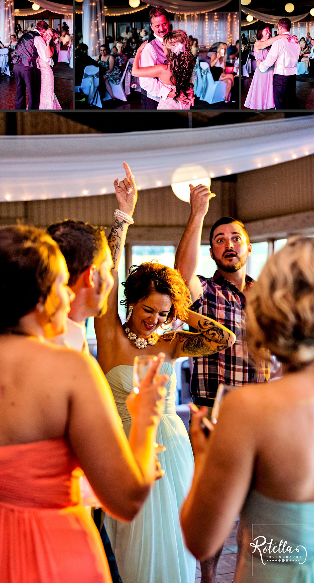 Guests dancing by Rotella Photography