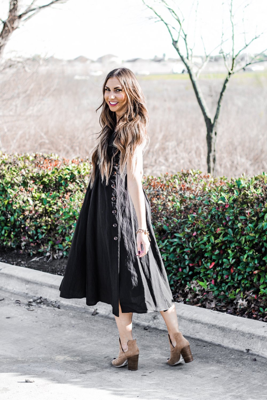 PinkBlush Black Dress