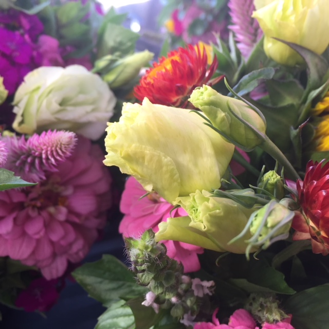 July bouquets ready for delivery