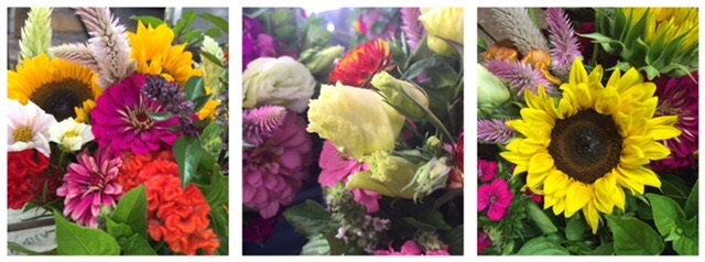 Sample of some of the Flower Farmer's favorite bouquets from 2017