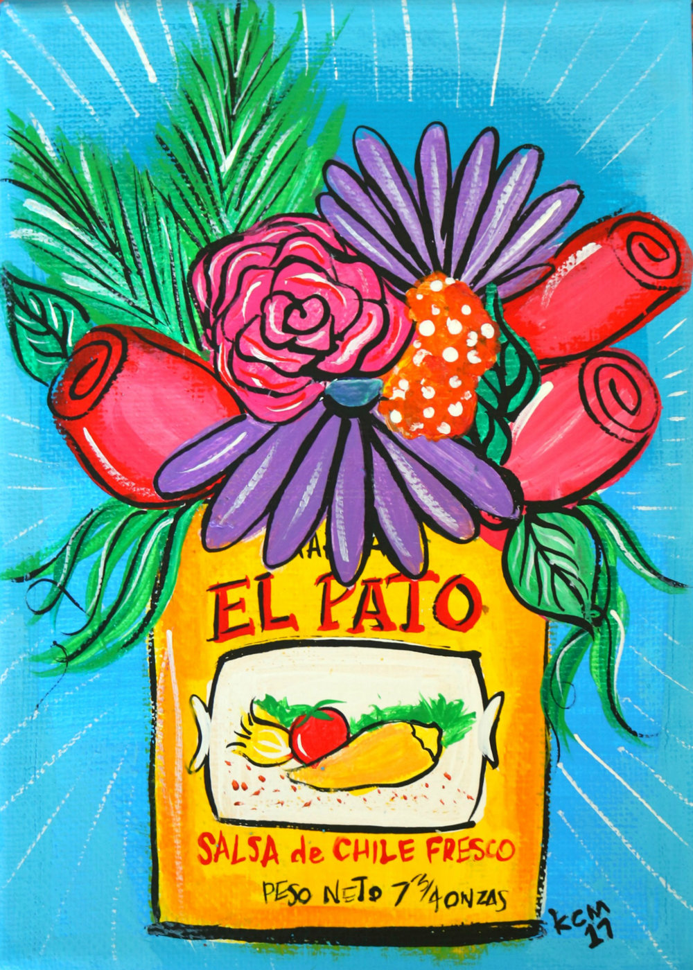 El pato by kathy cano-murillo, acrylic on canvas.