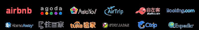 民泊,Airbnb,Booking.com,AsiaYo