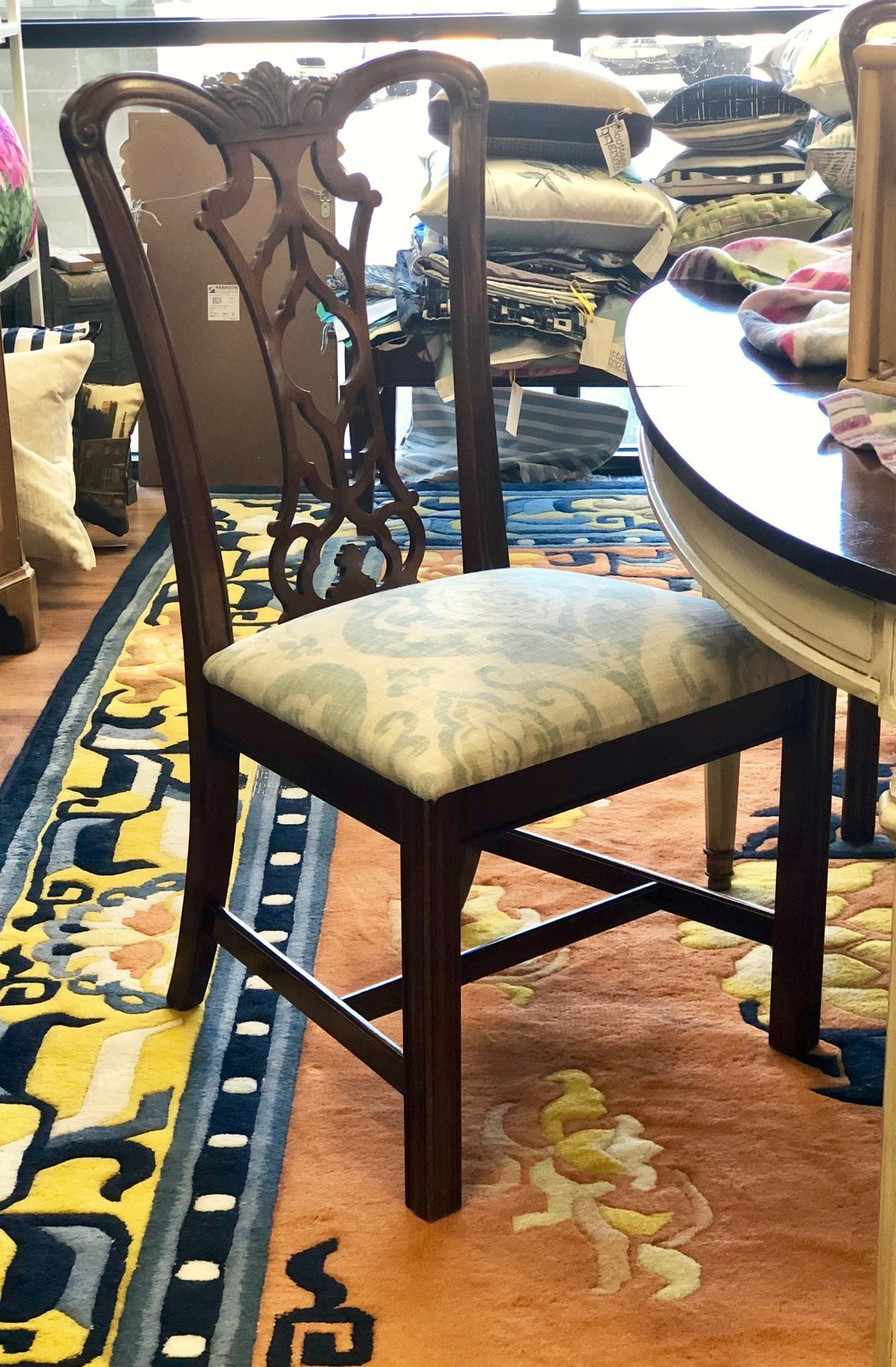 This classic chair can work with all traditional styles.   Cottage Grove Vintage Market