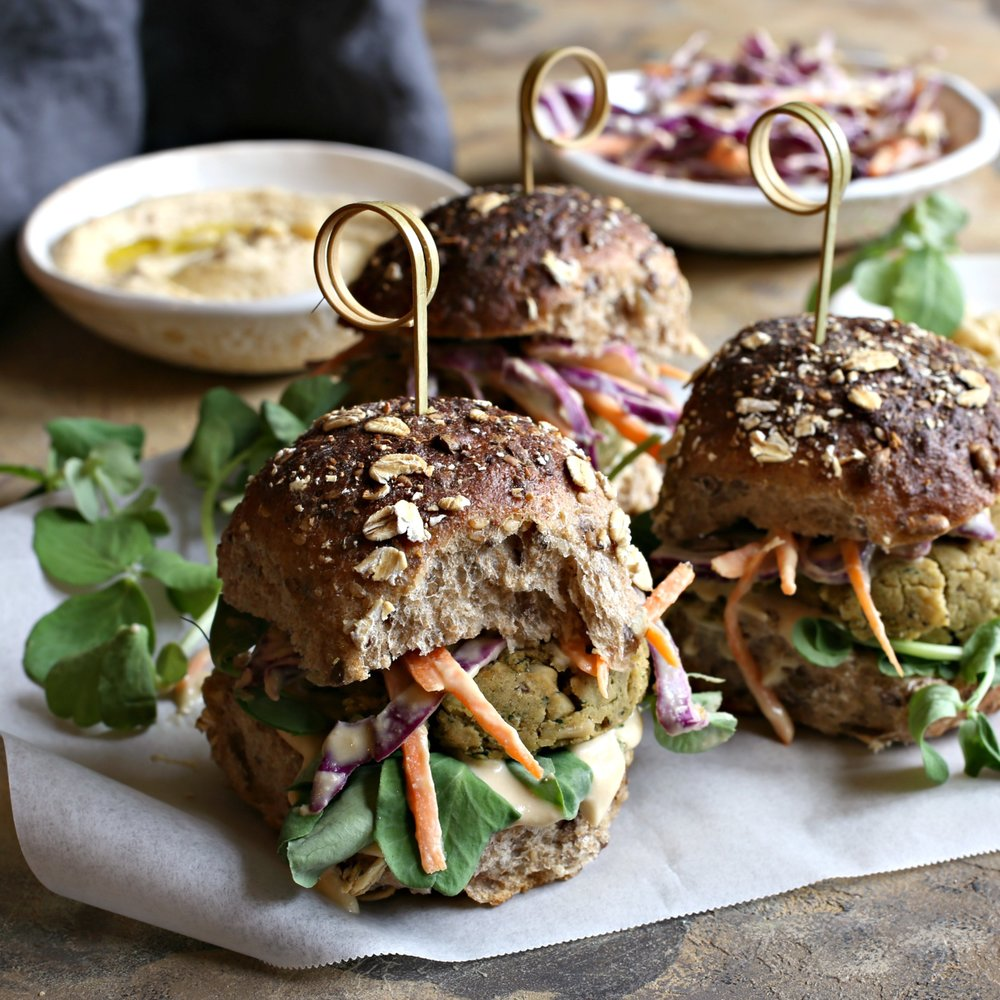 Baked Pine Nut Falafel Sliders with Hummus Slaw Square.jpg