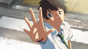 Taki reaches at the memories he seems to have lost, only recalling Mitsuha by the town she lived in.