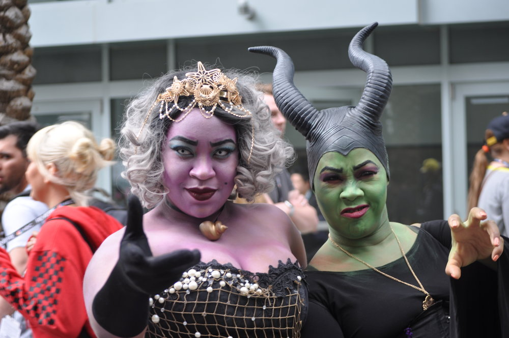 We were stunned by  @ascheley_does_cosplay 's Ursula, accompanied by an equally impressive Maleficent!