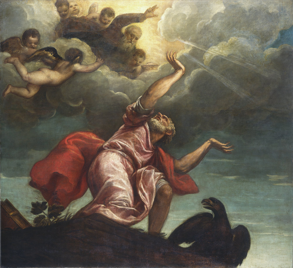 Clouds lent dramatic and numinous effect to the narrative art of Renaissance painters. This painting by Titian ( Saint John the Evangelist on Patmos )
