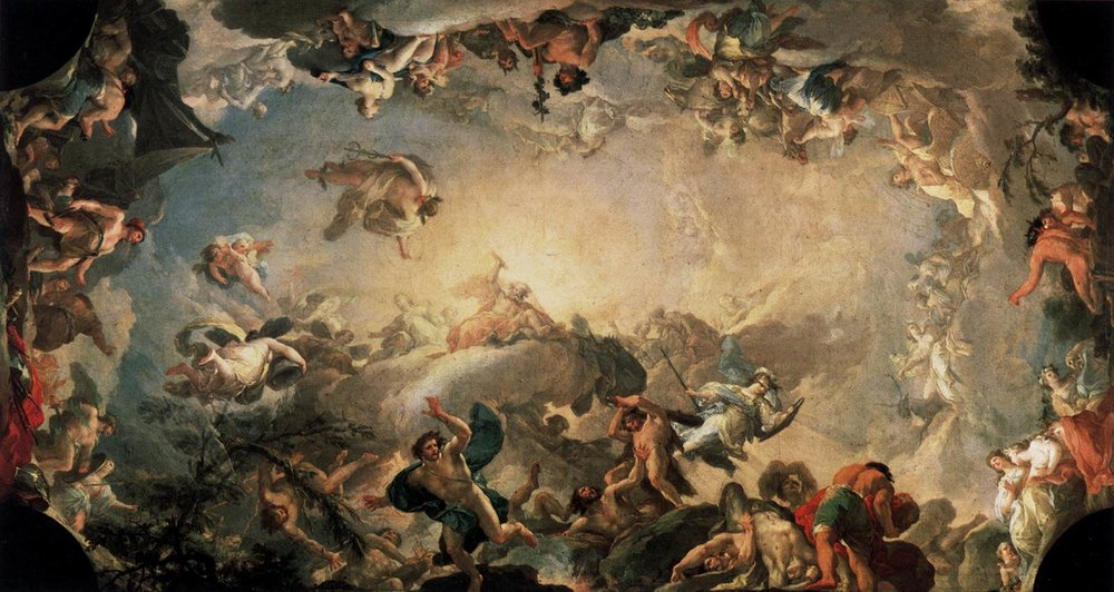 Francisco  Bayeu y Subias  Olympus, The Fall of the Giants