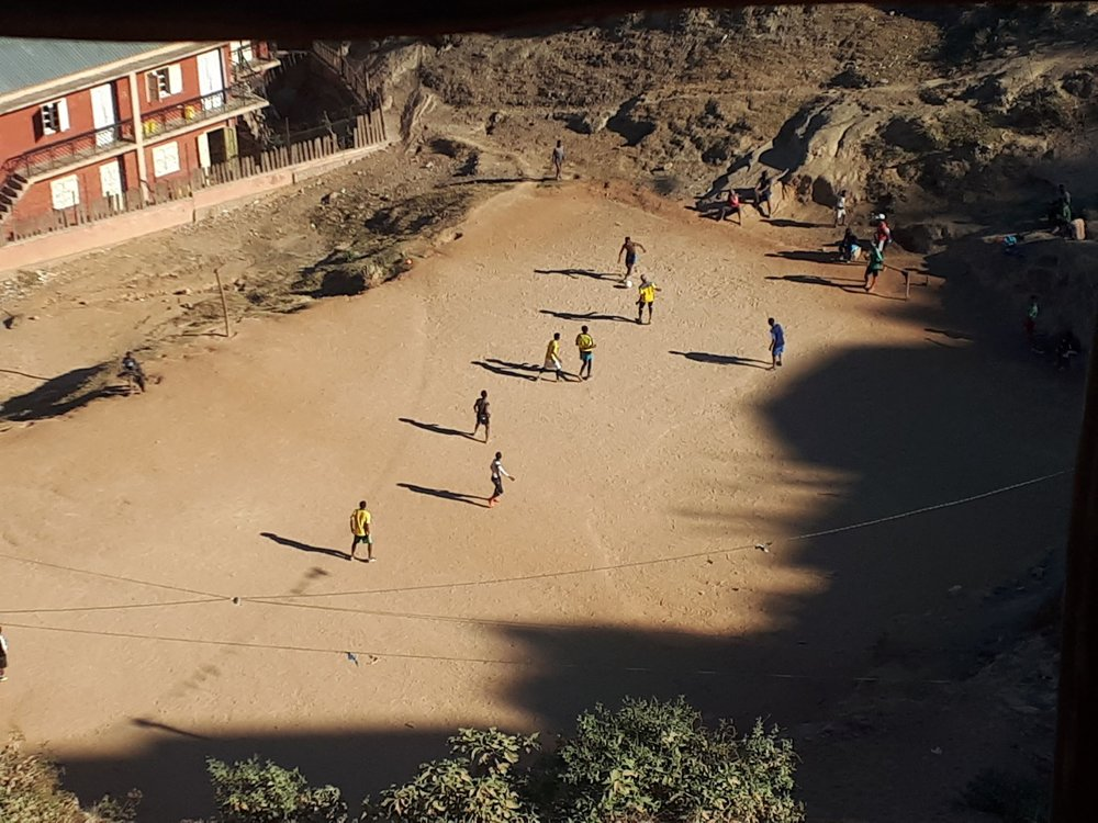 Antanarivo-Madagascar - In one of the poorest country in the world, luckily people can play football even if the pitch is bad - Sent by Thibaut Picard with his iphone.