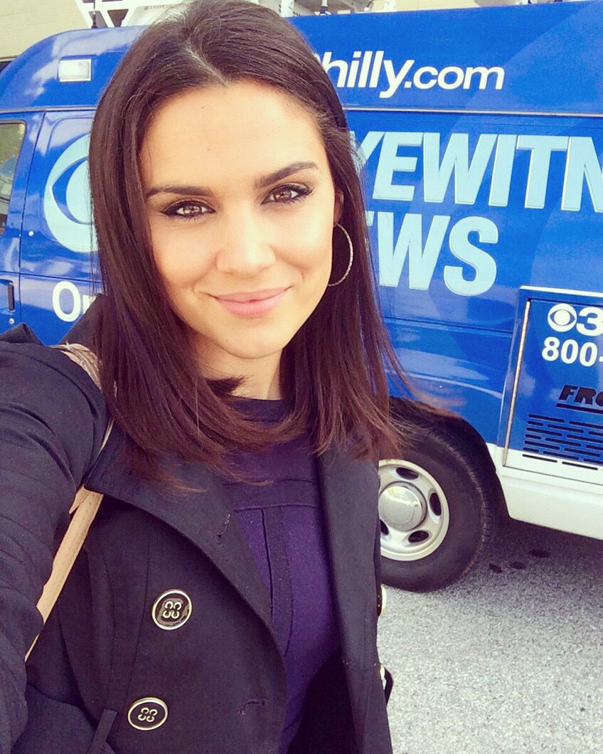 Nicole Brewer with CBS3 newsvan