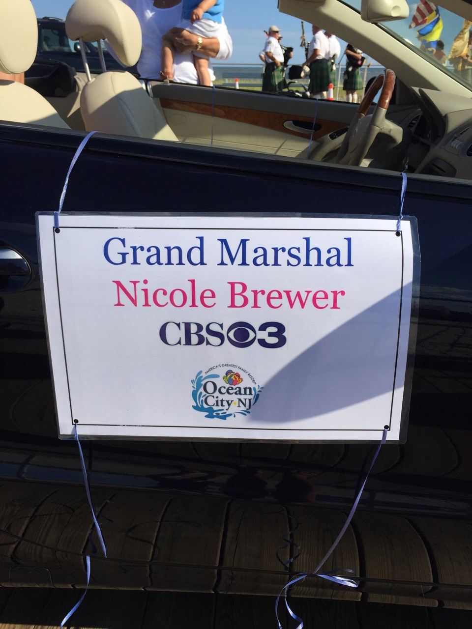 Nicole Brewer serves as Grand Marshall at the Ocean City, NJ baby parade!