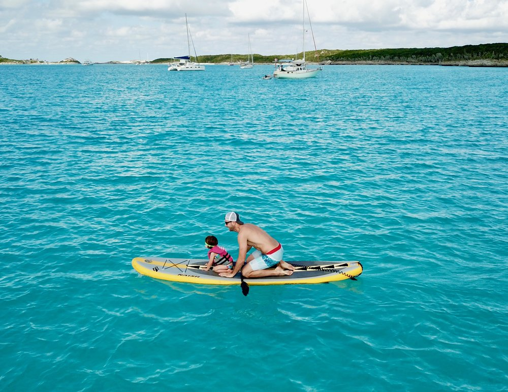 Conrad takes Zelda for a spin on the SUP