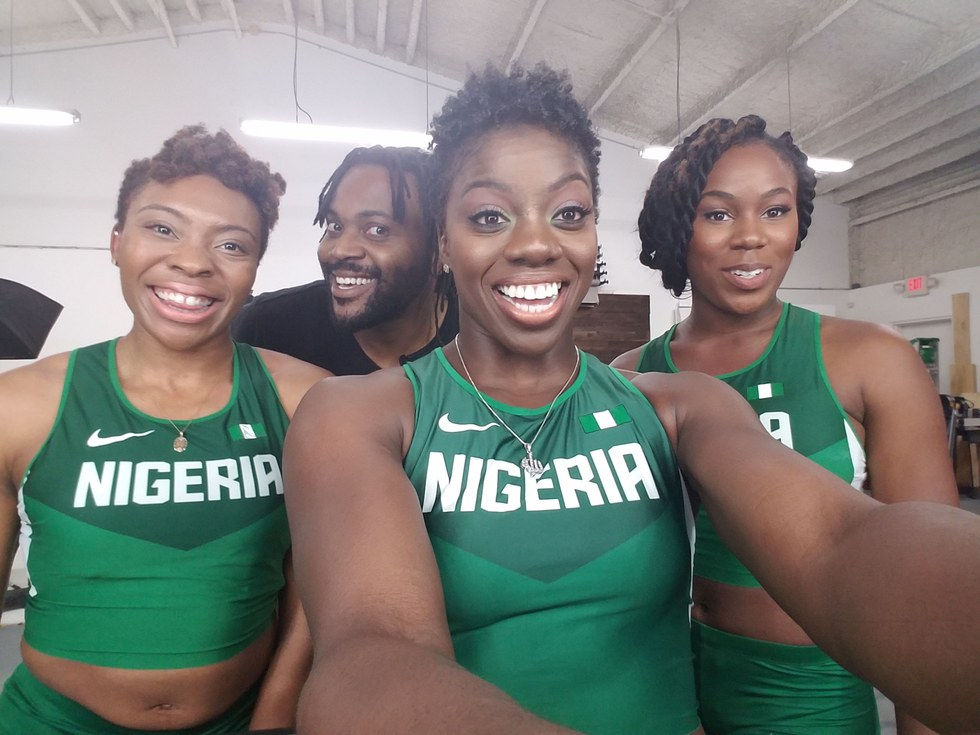 Photo courtesy of Nigerian women's bobsled team