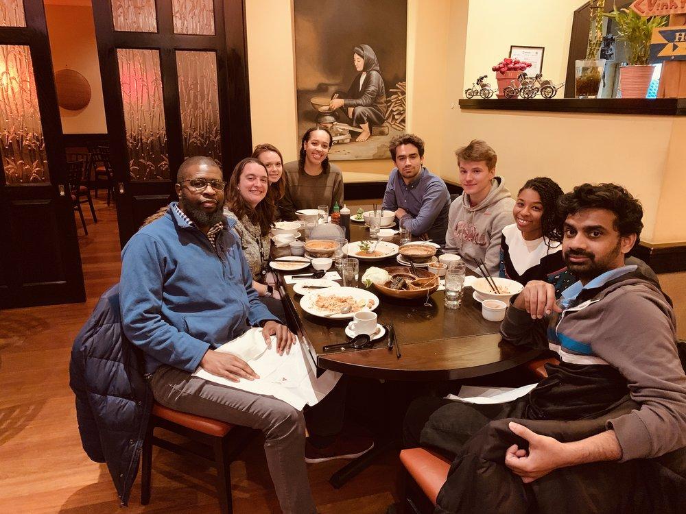 Lab dinner at Vietnam Cafe on 12-17-18.