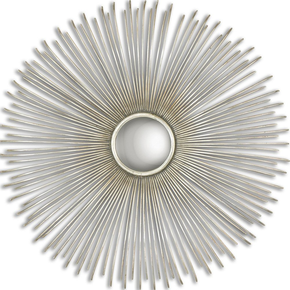 Launa Mirror - Hand Forged Metal Frame Finished In Oxidized, Plated Silver. Mirror Is Convex.$329