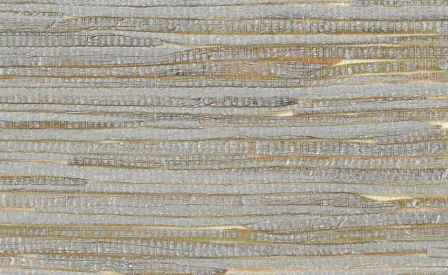 Grasscloth Wallpaper - Metallic and Off-WhitePrice shown per Single Roll. Sold only as 2 Single Rolls (physically packaged as one large double roll).$190