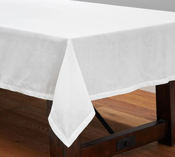 Hemstitch Linens - This timeless basic has stood the test of time because this simple stylish edge and easy to care for linen can't be beat.