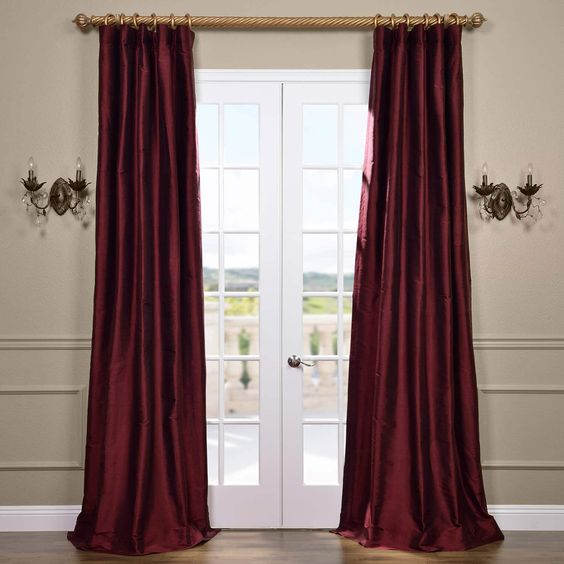 Dupioni Silk Drapes - Pole Pocket with Hook Belt100% Thai SilkLined & InterlinedWeighted HemImportedDry Clean Only$239. per panel