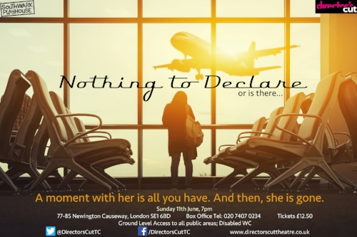 - This short play was part of an evening called Nothing to Declare (Directors Cut Theatre). The brief was that a woman was travelling through Europe and writers had to imagine various meetings and encounters she had.The Woman in the Restaurant features an unnamed woman trapped in an unhappy marriage who sees in the traveller a free spirit.