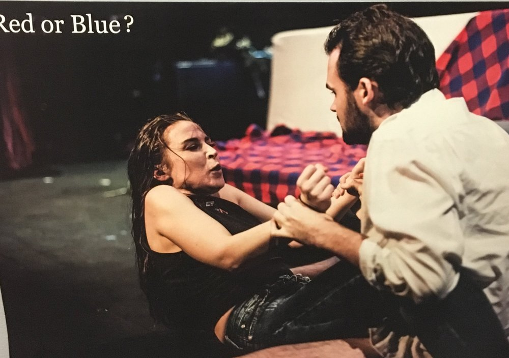 RED OR BLUE? WAS RUNNER-UP IN THE 2017 BRITISH THEATRE CHALLENGE