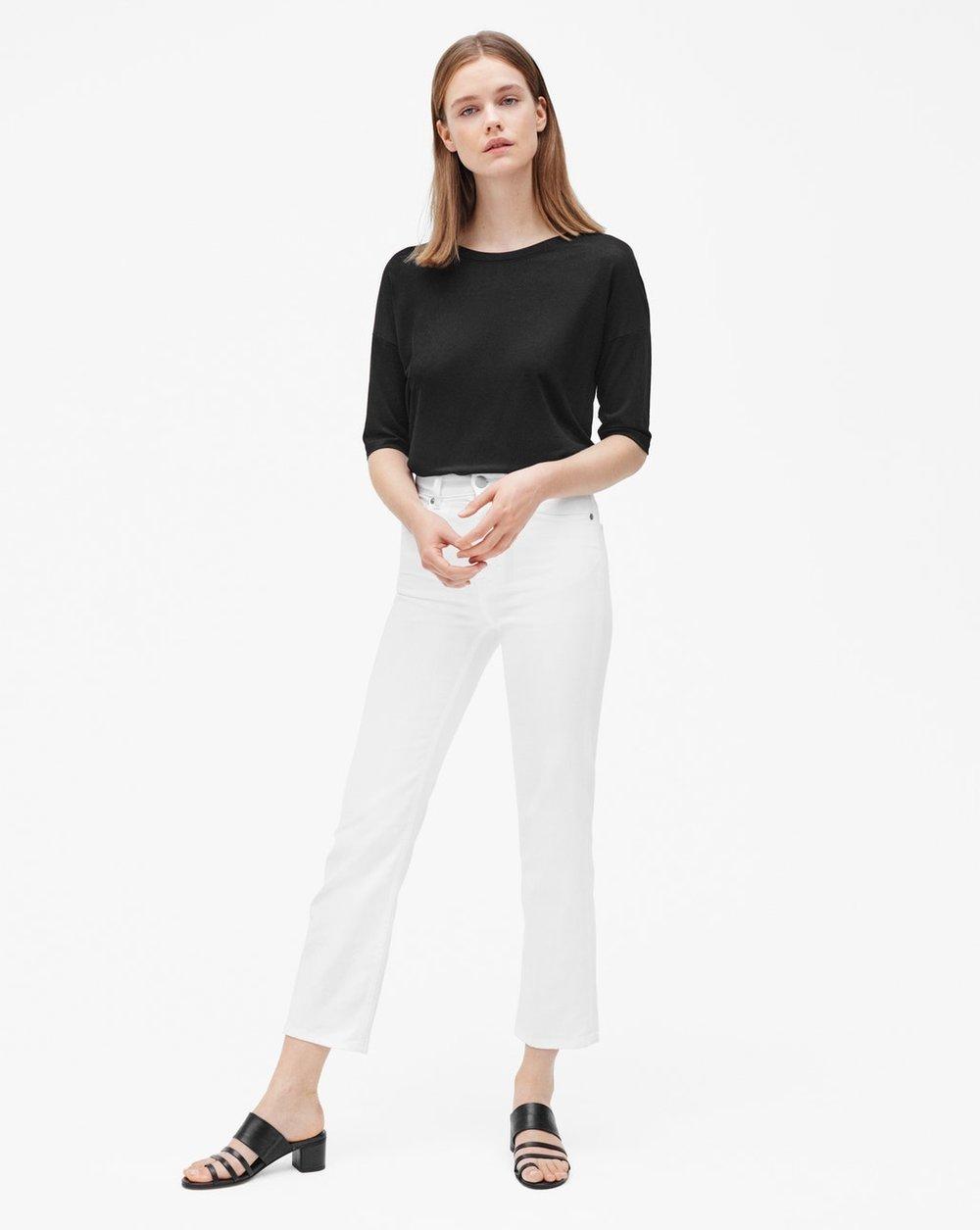 Stella cropped coloured white denim jeans från Filippa K för 1500 kr